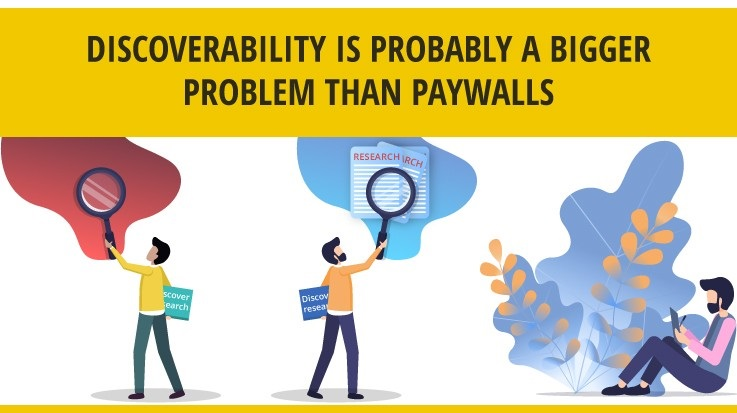 Discoverability is probably a bigger problem than paywalls